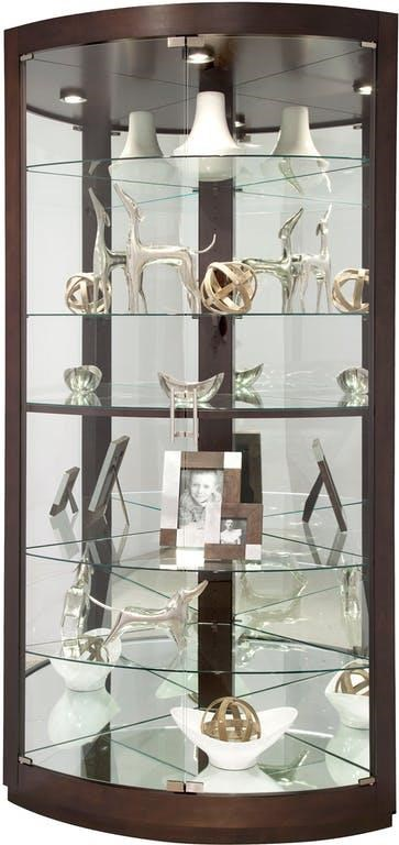 Marseille Marseille Display Case by Howard Miller at Morris Home