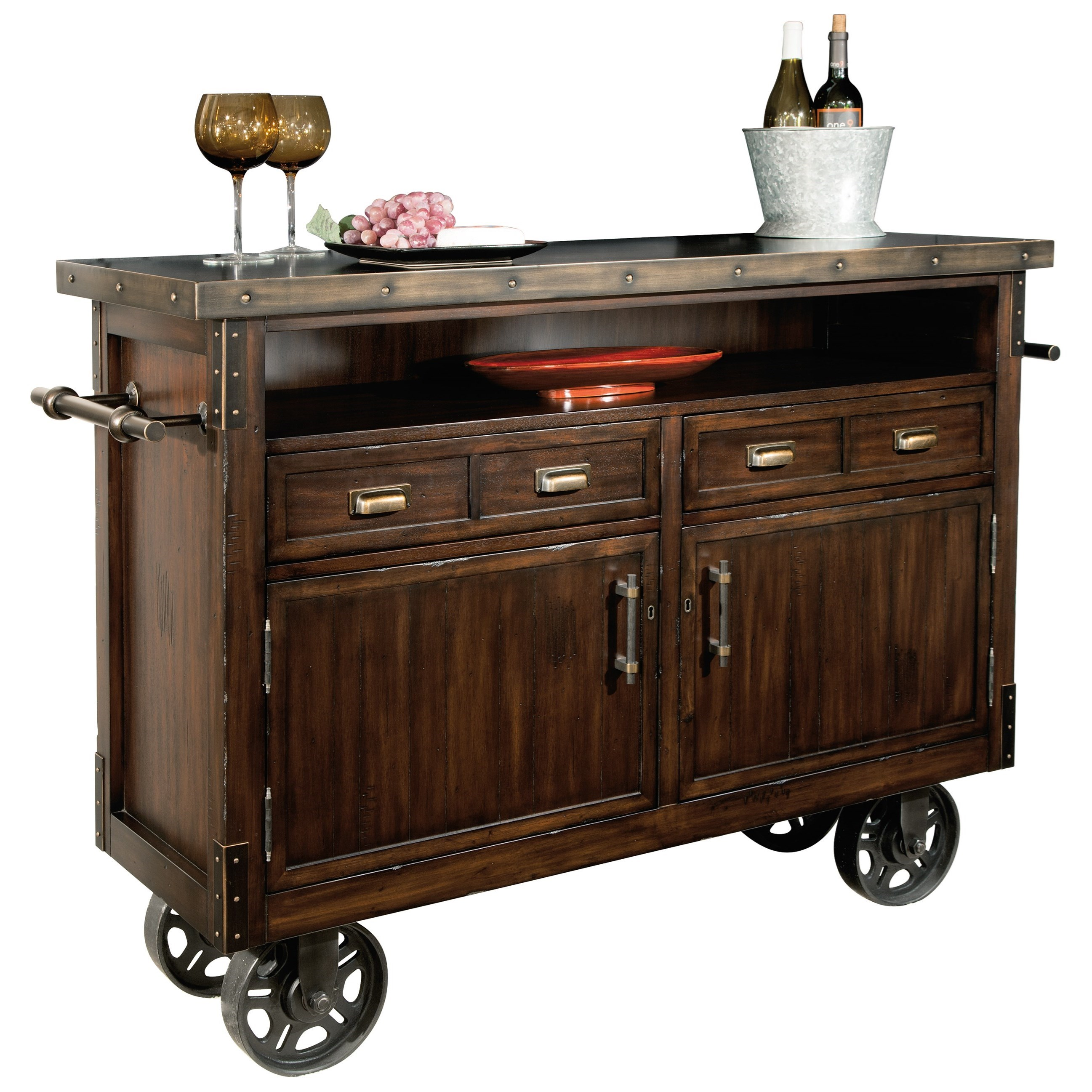 Wine & Bar Furnishings Barrow's Wine and Bar Console by Howard Miller at Alison Craig Home Furnishings
