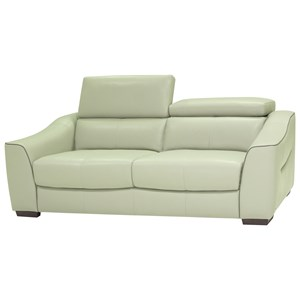Contemporary Power Reclining Sofa with Adjustable Headrest
