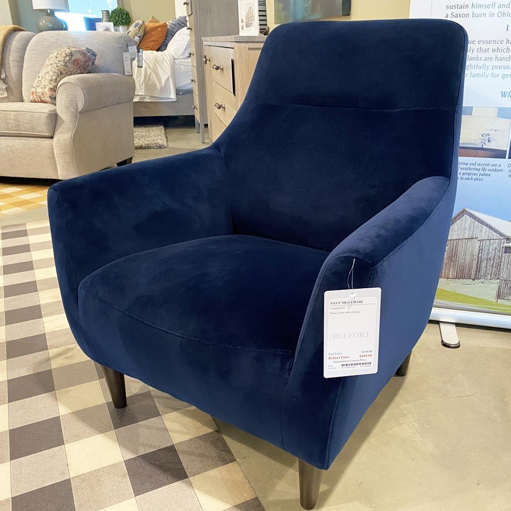 1085 Navy Meg Chair by Belfort Select at Belfort Furniture