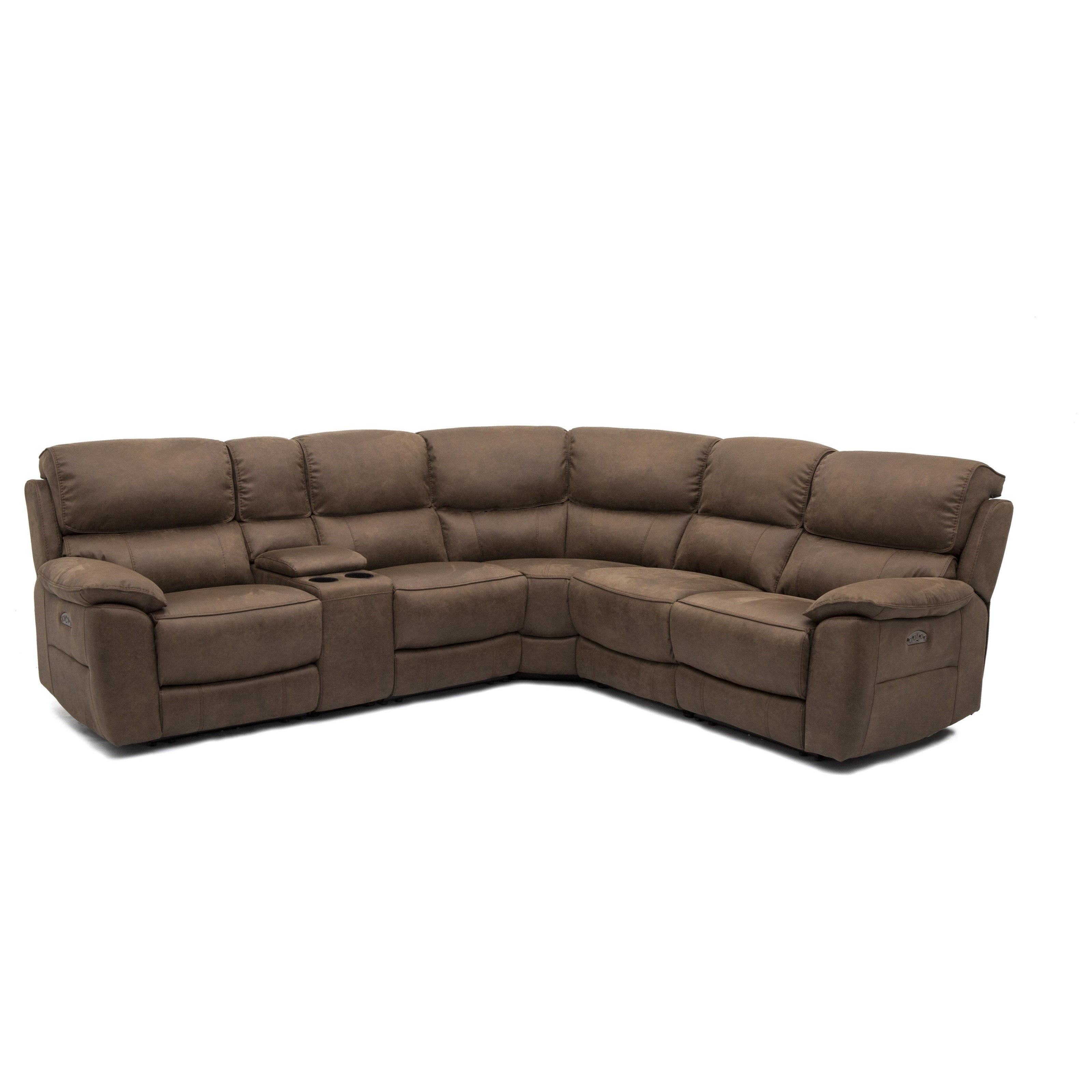 11472 Power Reclining Sectional by HTL at Wilson's Furniture
