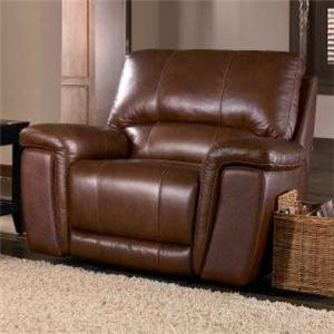 HTL 2678CS Leather Glider Recliner