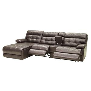 HTL 2775 4 Pc Reclining Sectional w/ LAF Chaise