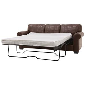 Casual Sofa with Pull Out Mattress and Rounded Arms