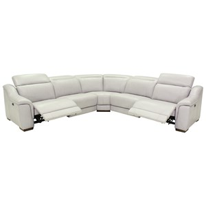 Contemporary Power Reclining 5 Seat Sectional