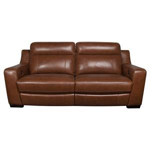 Modern Leather Match Power Reclining Sofa