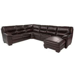 4PC Leather Sectional w/ Chaise