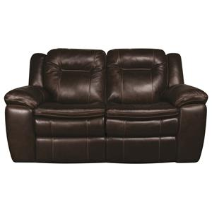 Power Leather Match Reclining Loveseat
