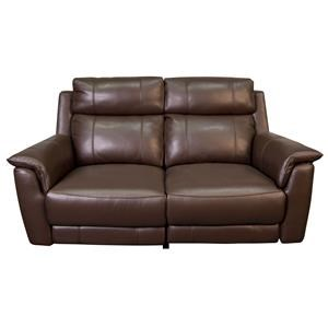 Dual Leather Match Power Reclining Loveseat