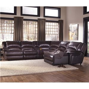 HTL T118 Reclining Leather Sectional