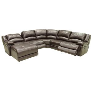 HTL T118CS Reclining Sectional with Left Chaise