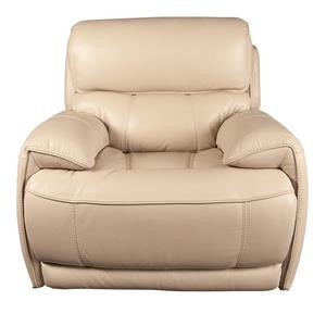 Leather Match Recliner with Power Headrest