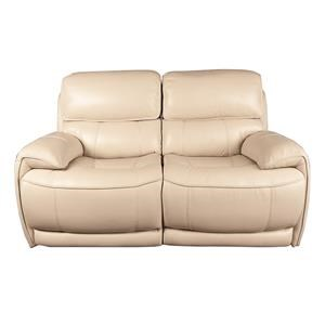 Leather Match Power Loveseat with Power Headrest