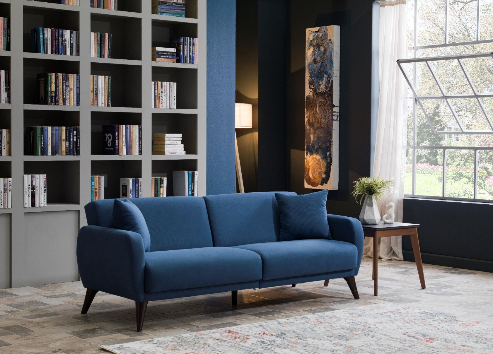 321643 Blue Sofa In A Box by Hudson at Stoney Creek Furniture