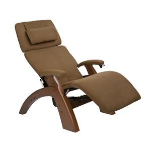 Human Touch Perfect Chair Recliners Classic Power Recliner with Walnut Base