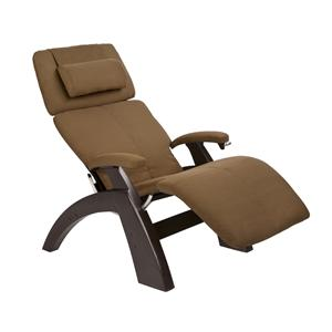 Human Touch Perfect Chair Recliners Manual Recliner with Dark Walnut Base