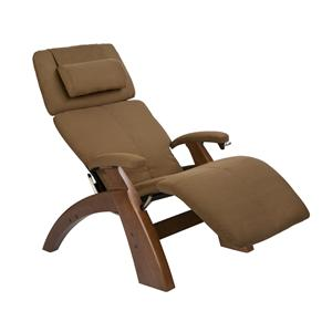 Human Touch Perfect Chair Recliners Manual Recliner with Walnut Base