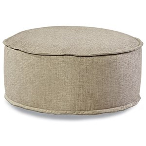 Customizable Round Cocktail Ottoman