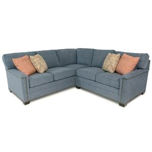 2PC Sectional Sofa w/ Nailhead Trim Detailing