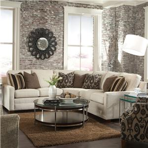 Customizable Contemporary Sectional Sofa with Wedge Corner