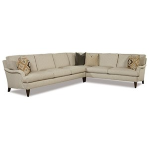 Two Piece Traditional Corner Sectional Sofa