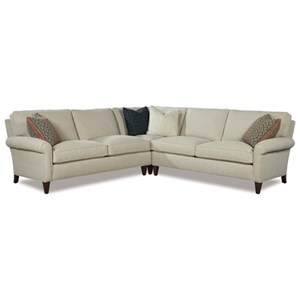 Casual Three Piece Sectional Sofa