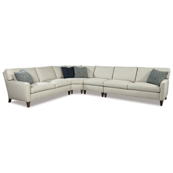 Harper 4 Pc Sectional Sofa by Huntington House at Belfort Furniture
