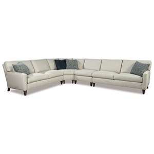 Modern Four Piece Sectional Sofa