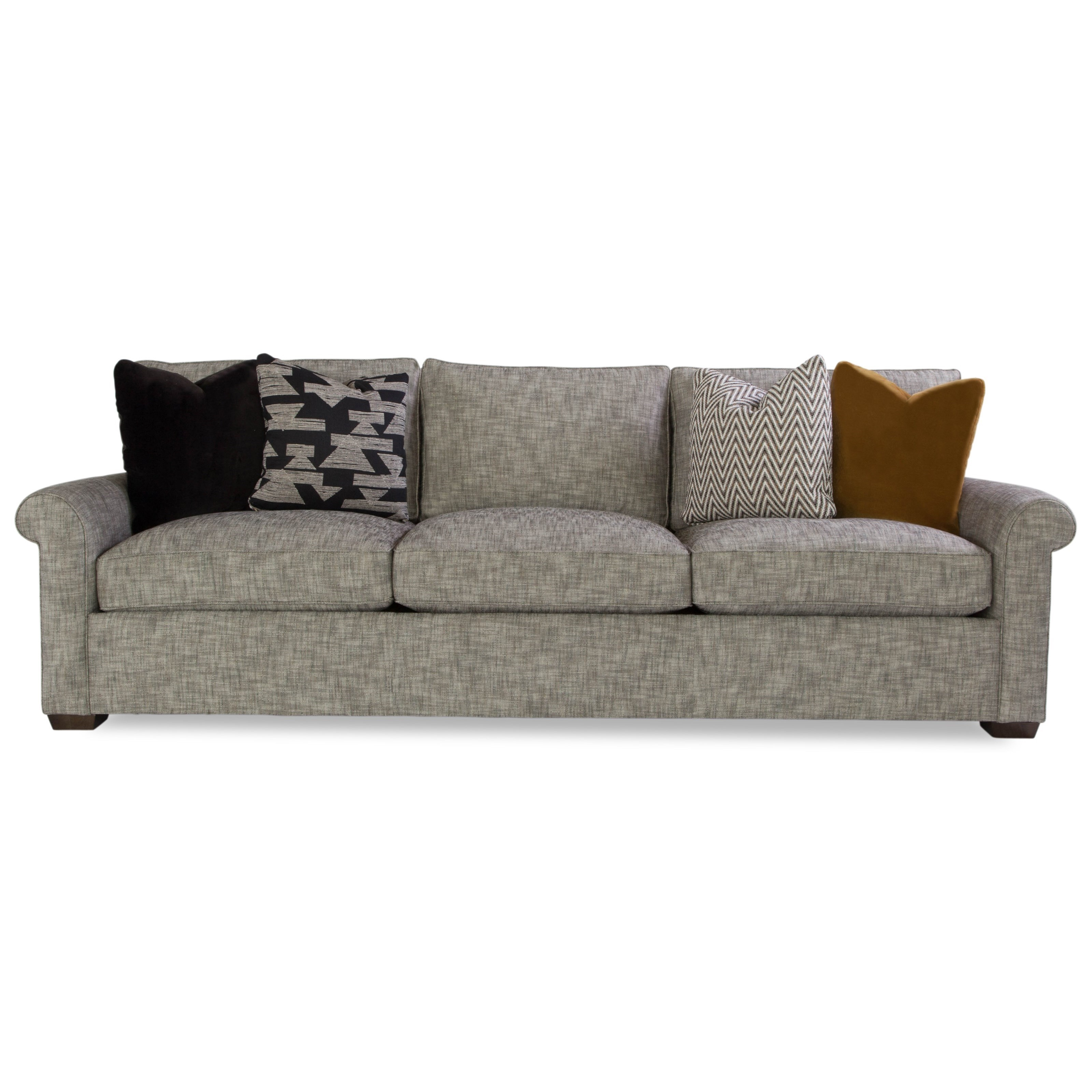 Plush Customizable Sofa w/ Rolled Arms by Huntington House at Belfort Furniture