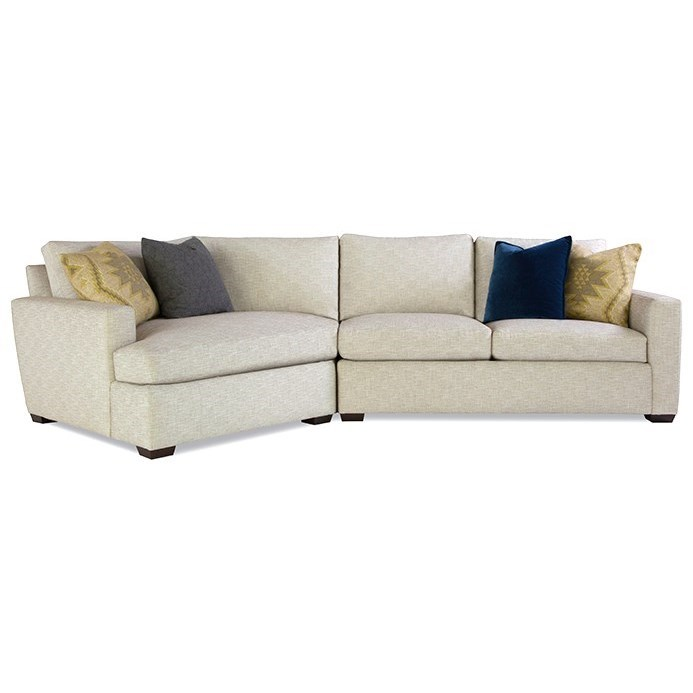 Plush Mod Customizable Sectional w/ Track Arms by Huntington House at Belfort Furniture