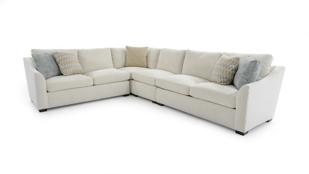 Four Piece L-Shape Sectional Sofa with Flare Arms