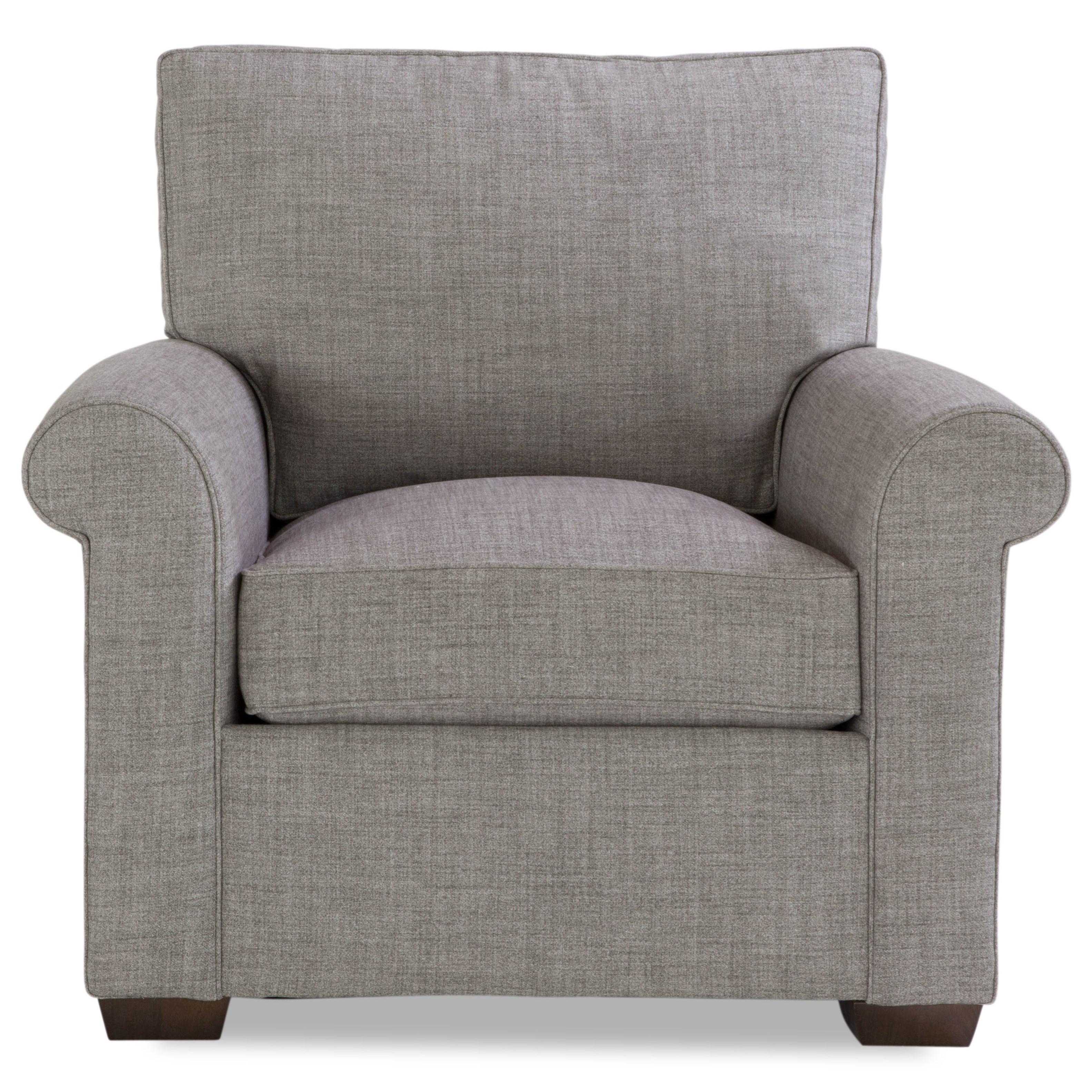 Plush Chair w/ Rolled Arms by Geoffrey Alexander at Sprintz Furniture