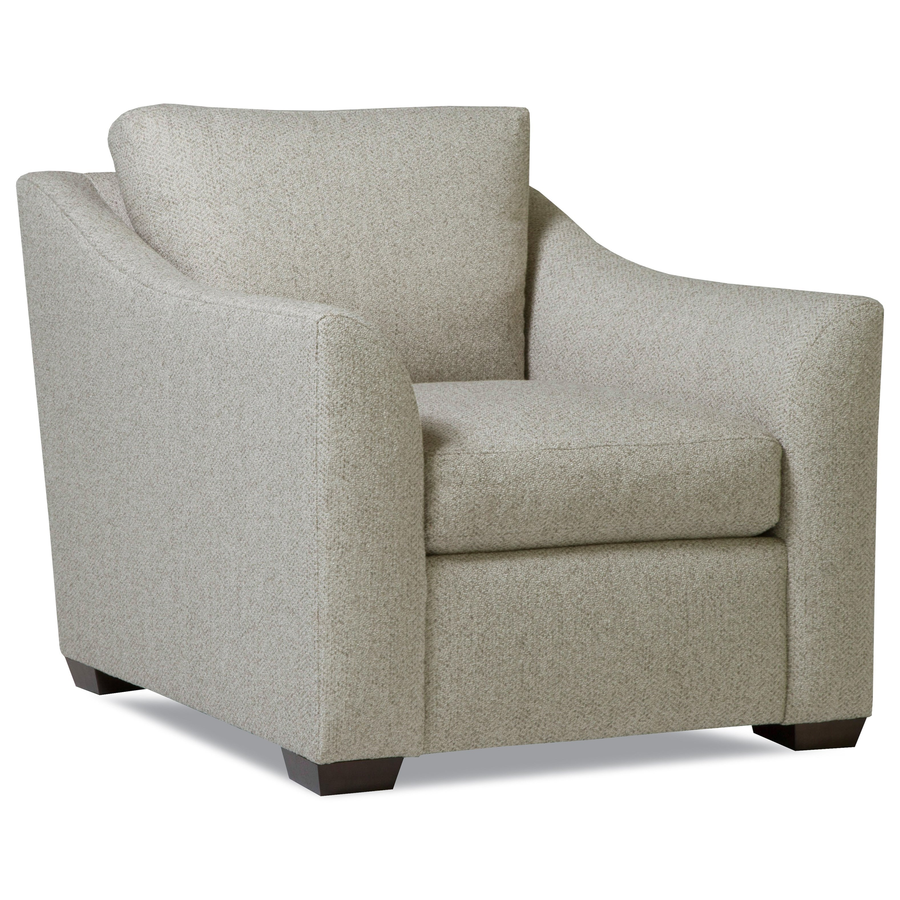 Plush Chair w/ Flared Arms by Huntington House at Belfort Furniture