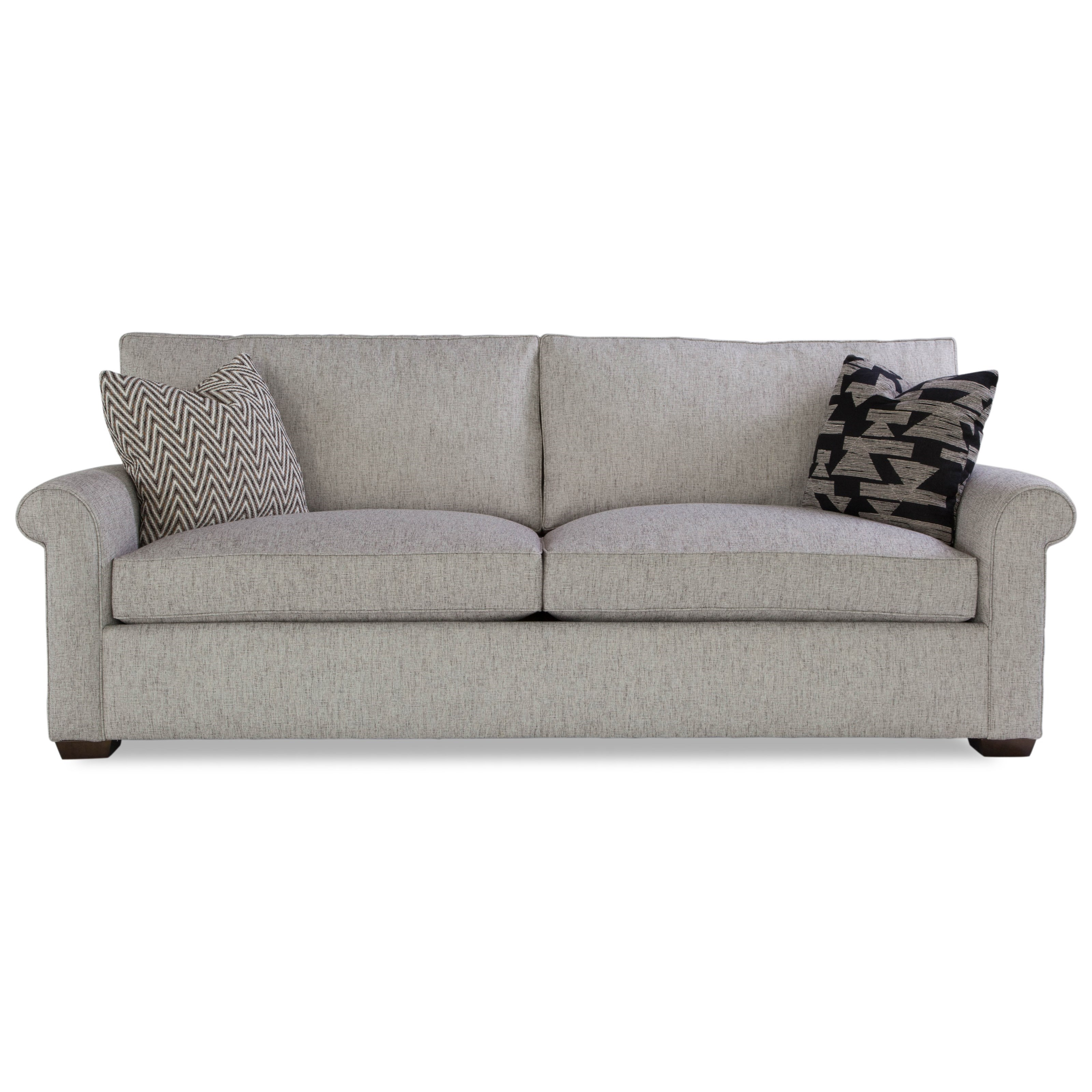 Plush Two Cushion Sofa w/ Rolled Arms by Huntington House at Belfort Furniture