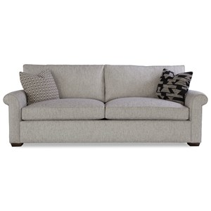 Customizable Two Cushion Sofa with Rolled Arms