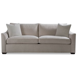 Two Cushion Sofa with Flared Arm