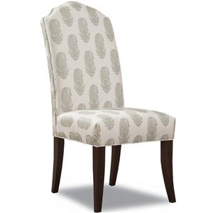 Upholstered Dining Side Chair with Tapered Legs