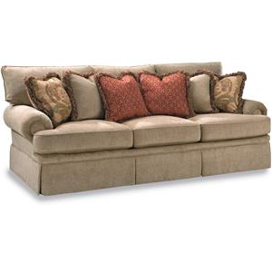 Sofa with Low Profile Rolled Arm