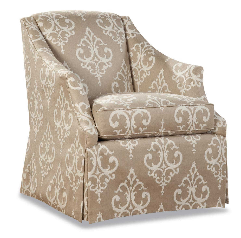 3399 Skirted Chair by Geoffrey Alexander at Sprintz Furniture