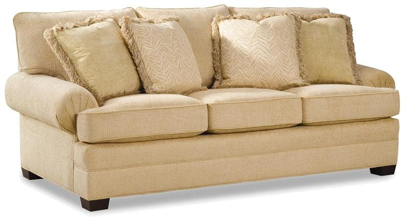2061 Upholstered Sofa with Low Profile Arms by Geoffrey Alexander at Sprintz Furniture
