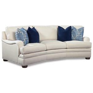 Conversation Sofa with Curved Arms