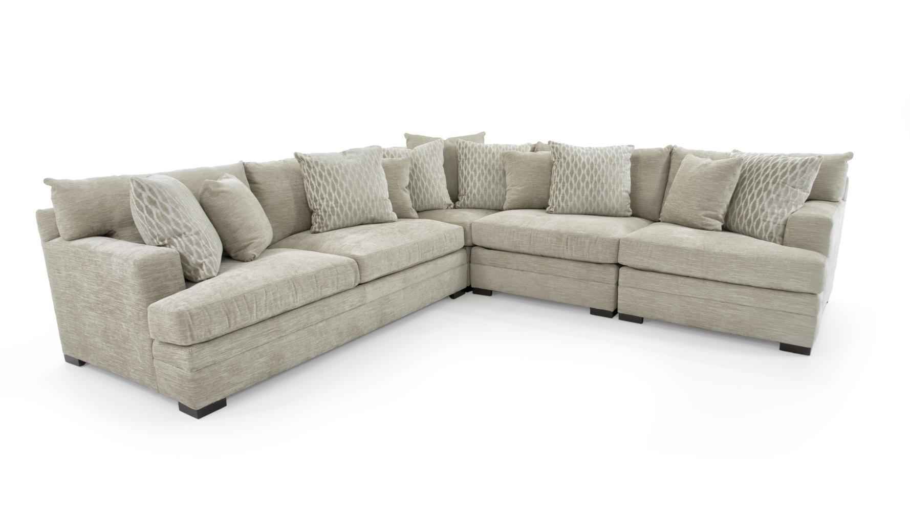 Casual Contemporary Four Piece Sectional Sofa