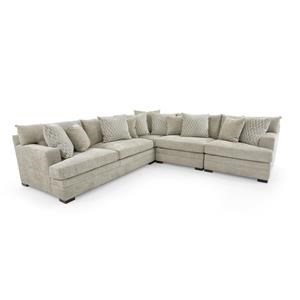 Casual Contemporary Four Piece Sectional Sofa