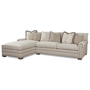 Left Arm Facing Sofa Chaise w/ Roll Arms