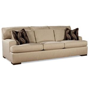 Sofa with Exposed Wood Feet