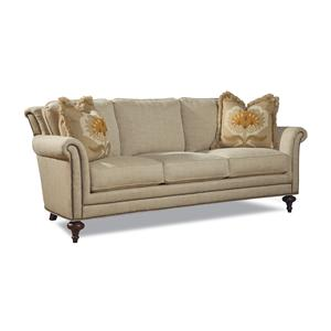 Traditional Sofa w/ Turned Legs