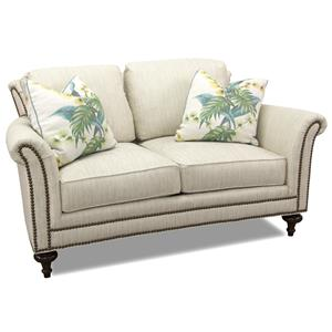 Loveseat with Elegant Turned Leg