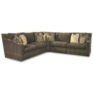 4 Seater Sectional with Sloping Track Arms