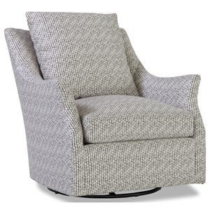 Contemporary Swivel Glider Chair with Flare Tapered Arms