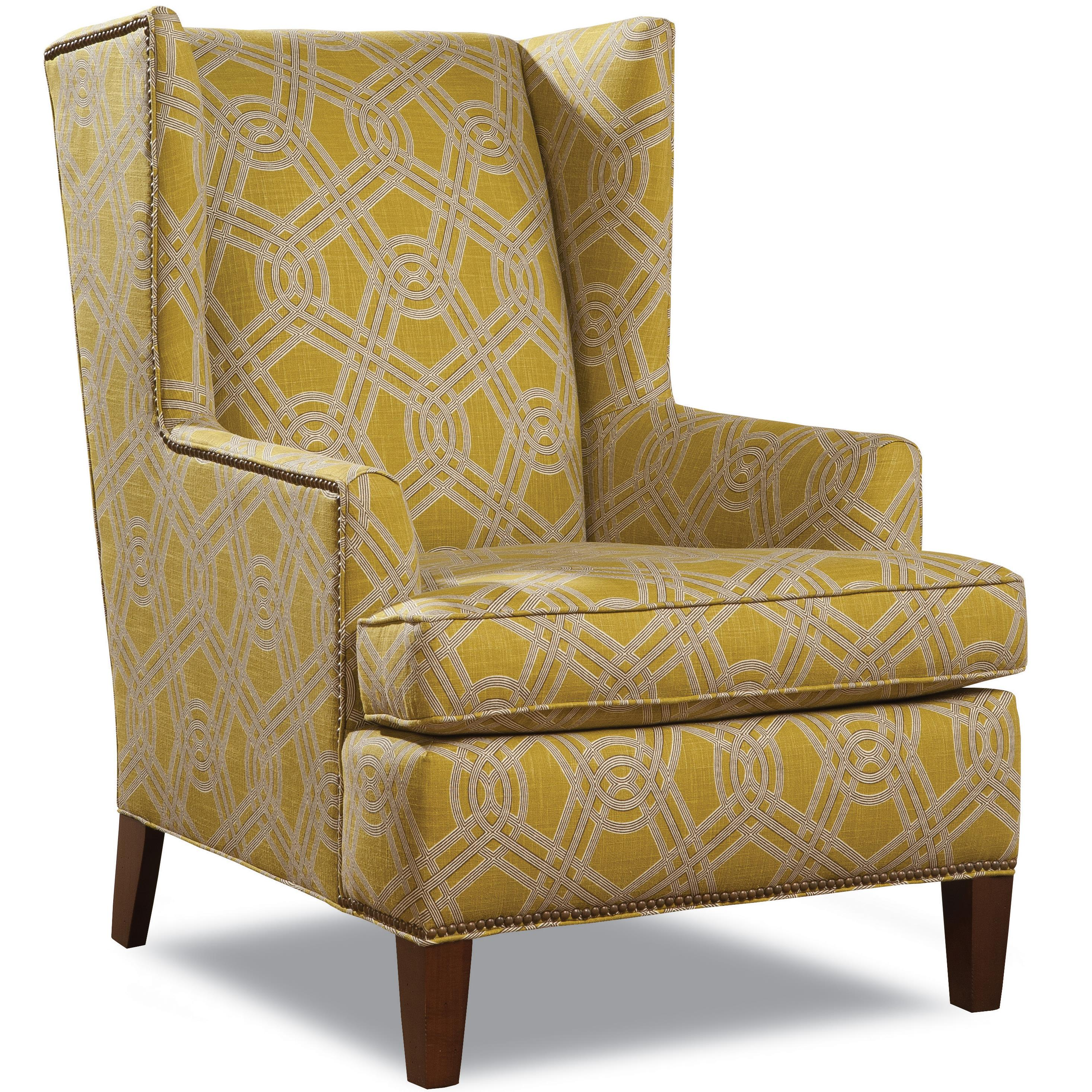 7406 Wing Chair by Geoffrey Alexander at Sprintz Furniture